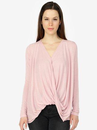 Bluza roz deschis cu drapaje - VERO MODA Luna