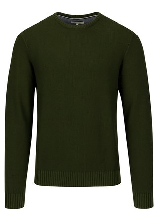 Pulover verde inchis cu model discret - Casual Friday by Blend