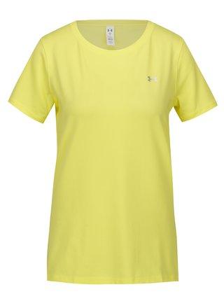 Žluté dámské funkční tričko Under Armour HeatGear