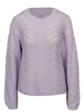 Fialový vzorovaný sveter Noisy May Tabby