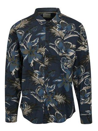 Tmavomodrá vzorovaná slim fit košeľa Blend