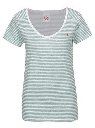 Zelené dámske pruhované tričko LOAP Bernice