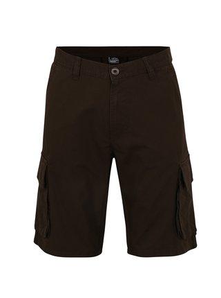 Pantaloni cargo scurti maro pentru barbati LOAP Velemon