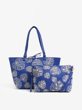 Modrý vzorovaný shopper s puzdrom Desigual Attalea Capri
