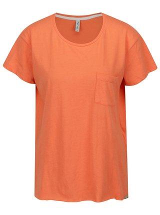 Tricou asimetric portocaliu cu buzunar Blendshe Mal