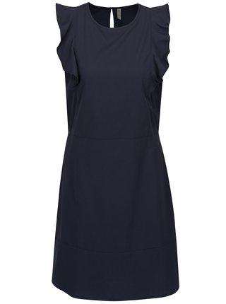 Tmavomodré šaty s volánmi Blendshe Sury