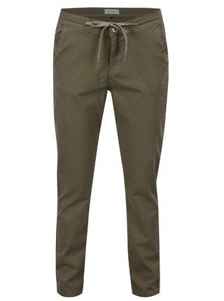 Khaki chino kalhoty se stahováním v pase Blendshe Ahana