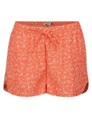 Pantaloni scurti portocalii cu print floral Blendshe Mally