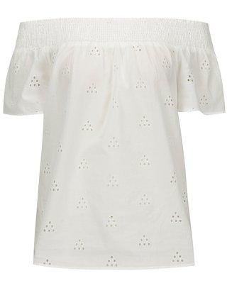 Biela blúzka s odhalenými ramenami VERO MODA Romantic