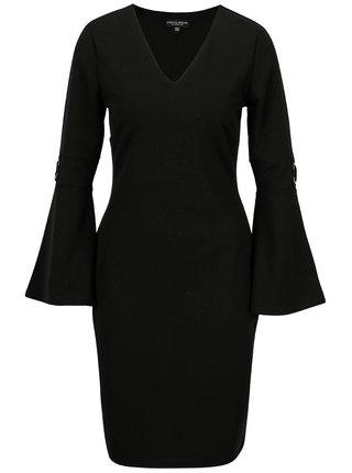 Čierne šaty so zvonovými rukávmi Dorothy Perkins