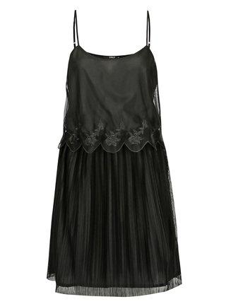 Rochie neagra plisata din plasa ONLY Lana