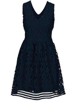 Tmavě modré krajkové šaty VERO MODA New Exclusive