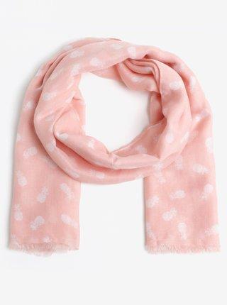 Ružová vzorovaná šatka Pieces Dharma