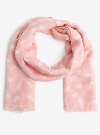 Esarfa roz cu print ananas - Pieces Dharma