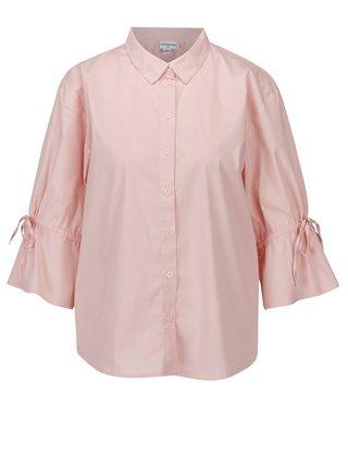 Svetloružová košeľa s 3/4 rukávom Jacqueline de Yong Cady