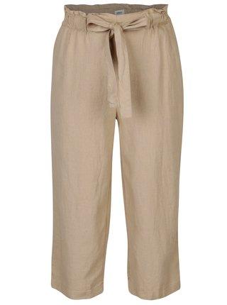 Pantaloni culottes bej cu talie inalta ONLY Juliet