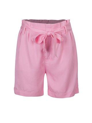 Ružové voľné kraťasy s vysokým pásom ONLY Kira