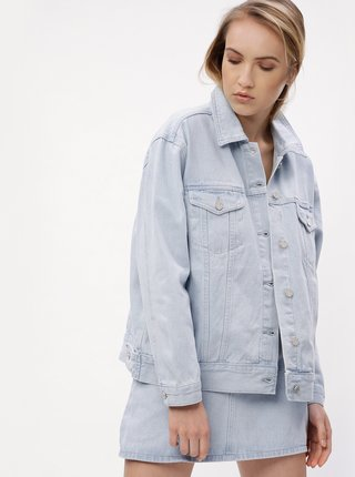 Jacheta bleu oversized din denim MISSGUIDED