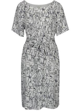 Modro-bílé vzorované šaty s páskem Selected Femme Gramms