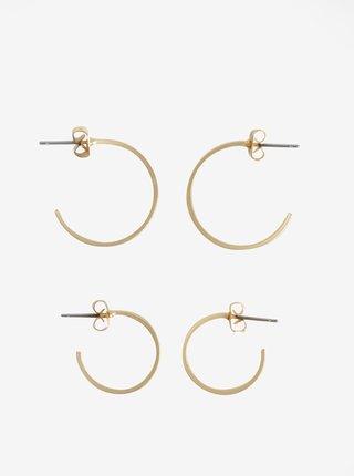 Set de 2 perechi de cercei circulari aurii - VILA Efj Hoops