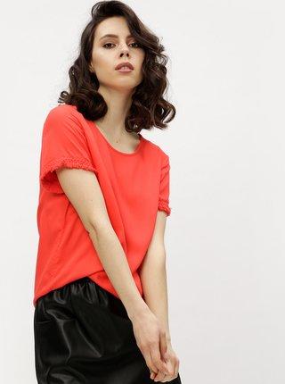 Červené tričko so strapcami VERO MODA Mynte