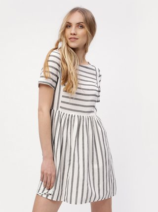 Sivo-biele pruhované šaty VERO MODA Sunny