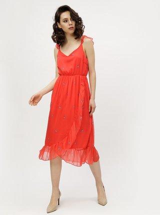 Červené kvetované šaty VERO MODA Danni