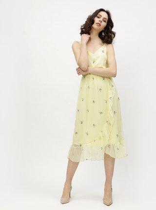 Žlté kvetované šaty VERO MODA Danni