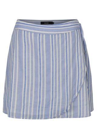 Modrá zavinovacia pruhovaná sukňa VERO MODA Summer