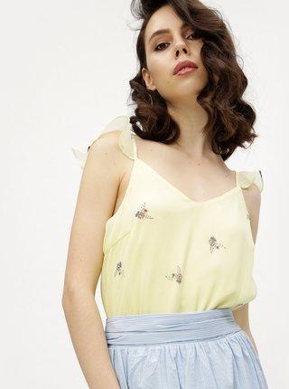 Žlutá květovaná halenka VERO MODA Danni