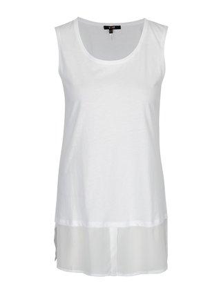 Bílý top s košilovým lemem Yest