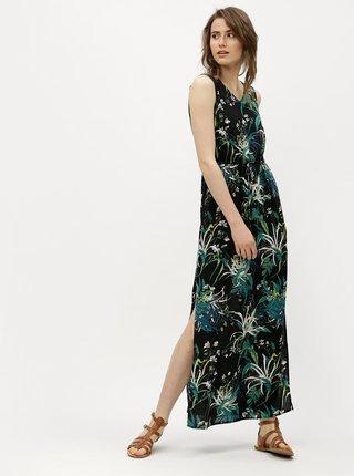 Rochie maxi imprimata verde cu negru VERO MODA Simply