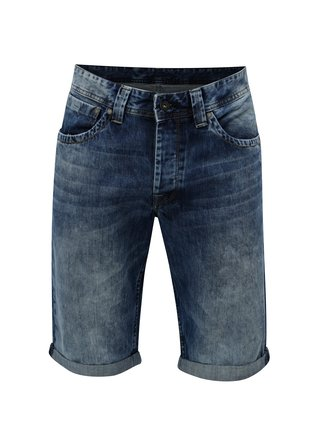 Pantaloni barbatesti scurti albastru inchis din denim Pepe Jeans Crash short