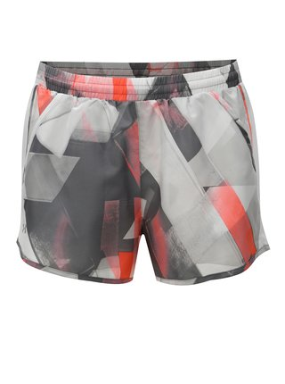 Pantaloni de dama scurti sport gri deschis cu model Under Armour