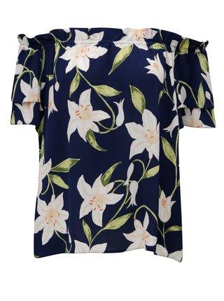 Bluza inflorata albastru inchis cu umerii goi Dorothy Perkins
