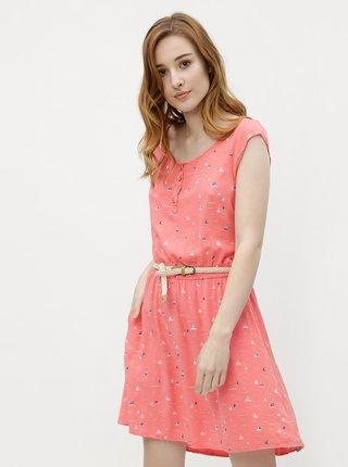 Ružové dámske vzorované šaty Ragwear Zephie