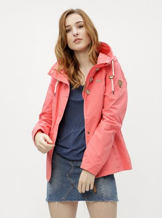 Růžová dámská bunda s kapucí Ragwear Lynx