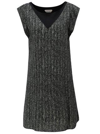 Šedo-černé volné vzorované šaty SKFK Geretz