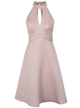 Světle růžové šaty Chi Chi London Perla