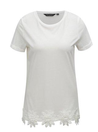 Biele tričko s nášivkami Dorothy Perkins