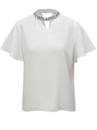 Bluza alb cu choker Perkins Petite