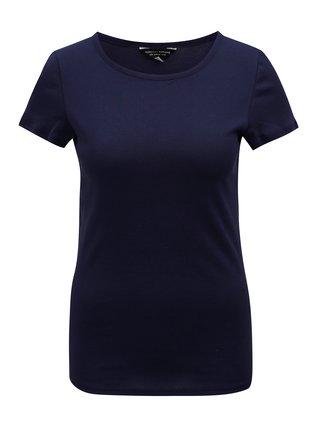 Tricou albastru inchis cu maneci scurte Dorothy Perkins