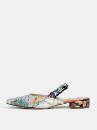 Modro-čierne kvetované sandáliky Högl