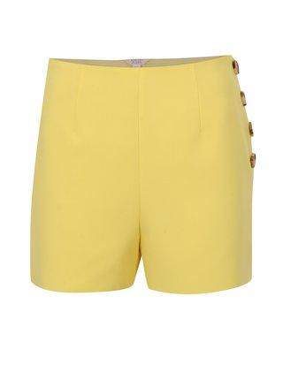 Pantaloni scurti galben cu talie inalta Miss Selfridge