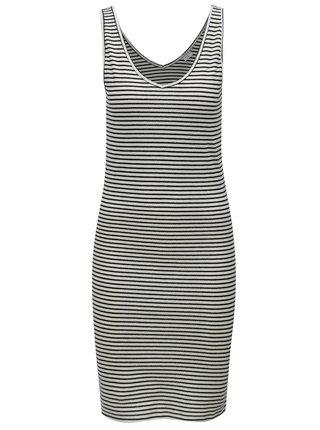 Rochie negru-alb in dungi fara maneci Jacqueline de Yong Christine