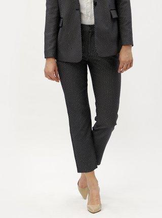 Tmavě modré kostýmové zkrácené kalhoty s drobným vzorem Scotch & Soda