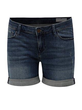 Pantaloni scurti de dama albastru inchis regular short din denim - Cross Jeans