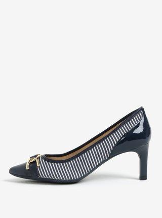 Pantofi albastru inchis in dungi - Geox Bibbiana