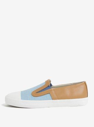 Pantofi slip-on de dama albastru & maro - Geox Giyo
