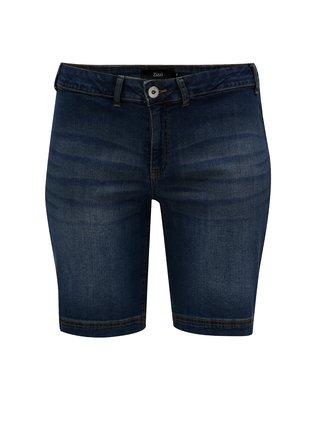 Pantaloni scurti albastru inchis regular fit din denim Zizzi